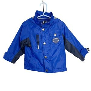 London Fog Winter Blue hooded Jacket Coat 2T